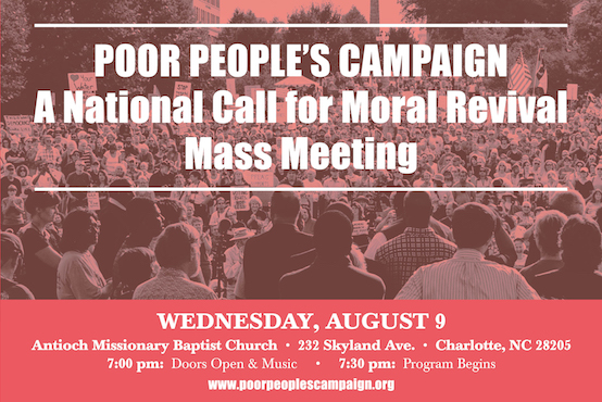 The Poor People's Campaign: A National Call for Moral Revival Kicks Off National Tour in Charlotte