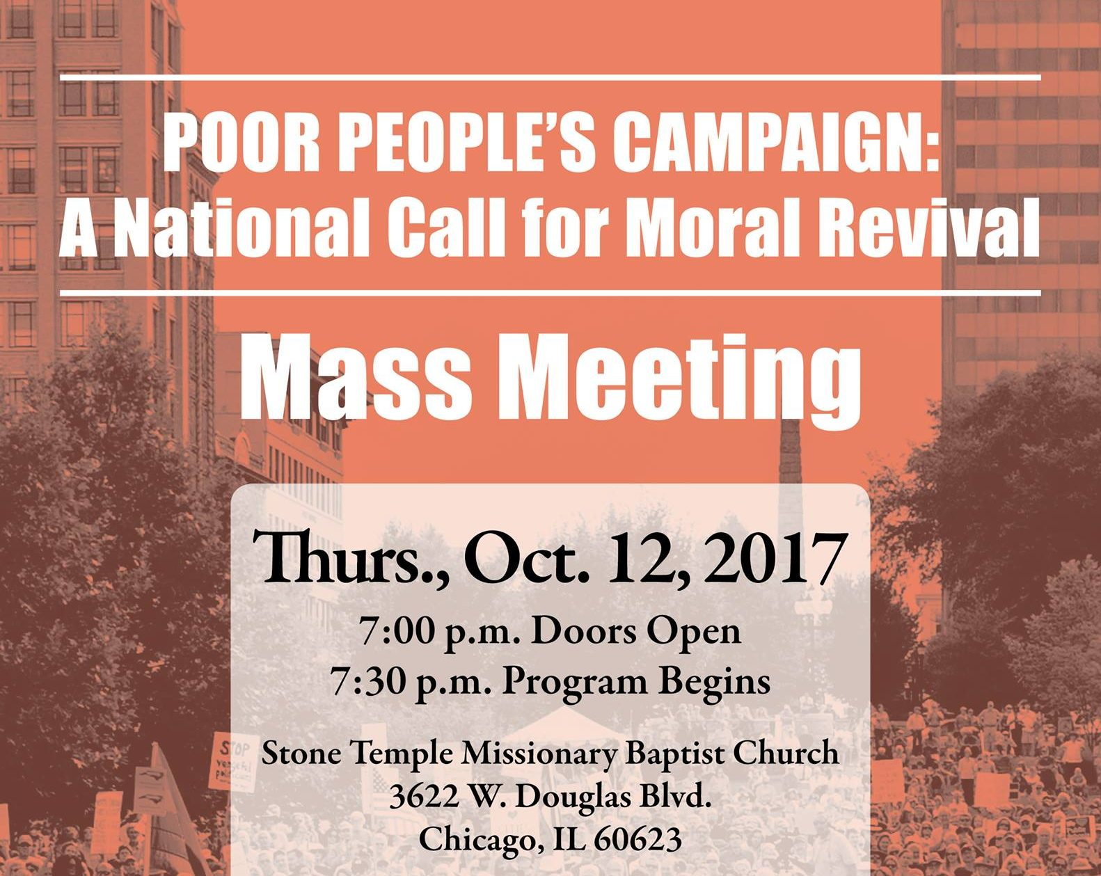Poor People's Campaign Chicago Mass Meeting