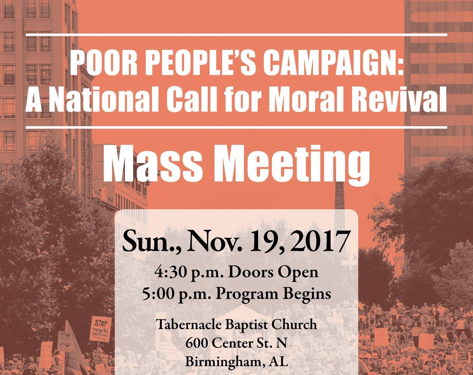 Poor People's Campaign: A National Call for Moral Revival Birmingham AL Mass Meeting
